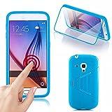 Numerva Samsung Galaxy S3 Mini Hülle, Schutzhülle [TPU Touch Case Handyhülle, Transparente PC Vorderseite] Cover für Samsung Galaxy S3 Mini Schale [Hellblau]