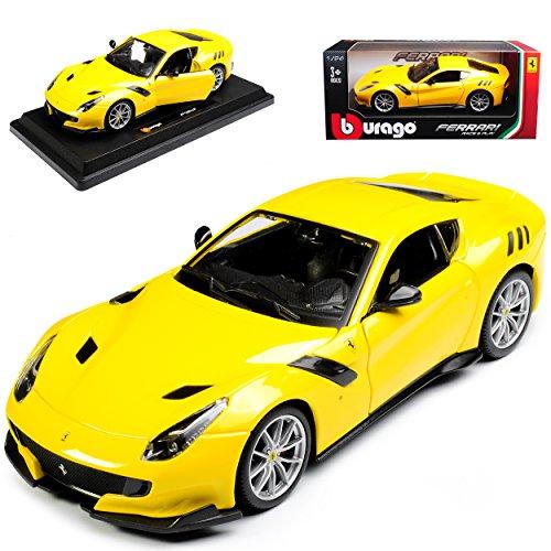 alles-meine.de GmbH Ferrari F12 TDF Coupe Gelb 2012-2017 18-26021 1/24 Bburago Modell Auto