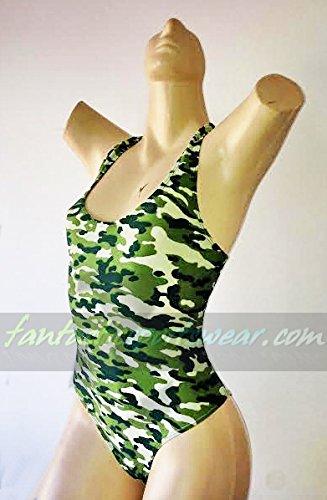 """Princesa Carioca Brasil Damen Badeanzug Model """"Navy"""" aus Brasilien Farbe: grün/carmouflage"""
