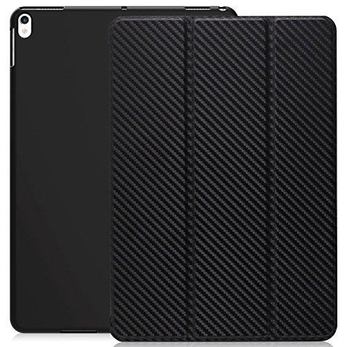 KHOMO iPad Air 3 10.5 (2019) / iPad Pro 10.5 (2017) Case Hülle, Gehäuse mit Doppeltem Schutz Ultra Dunn und Super Leicht Smart Cover Schutzhülle - Kohlefaser Carbon-gehäuse