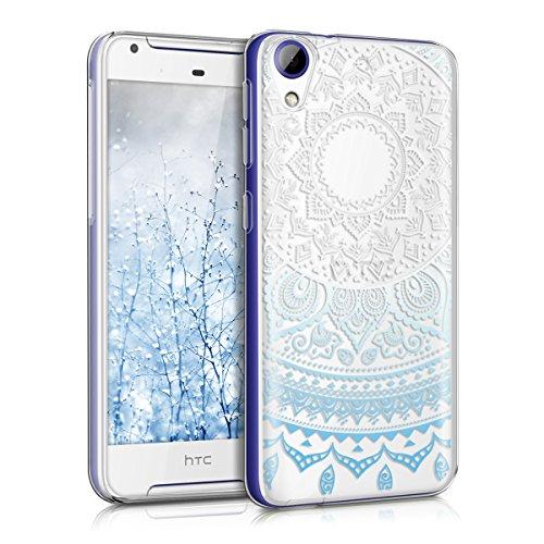 kwmobile HTC Desire 628 dual SIM Hülle - Handyhülle für HTC Desire 628 dual SIM - Handy Case in Blau Weiß Transparent