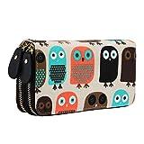 Geldtasche Damen Geldbörse Reißverschluss-Brieftaschen groß Kapazität Canvas Geldbeutel Tasche Damen Portemonnaie - Mescara