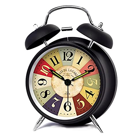 Horloge Lumineuse Créatrice D'alarme De Lampe/Rétro Horloge De Chevet Muet-C