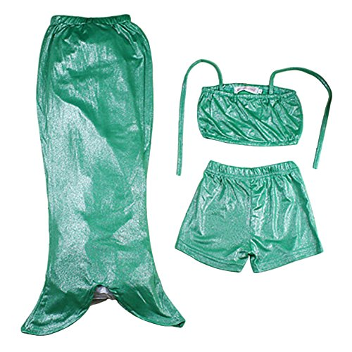 Imagen de freefisher bañador infántil de disfraz para niña princesa sirena de fotografía traje de baño/natación sirenita verde 140