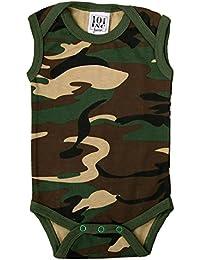 Sconosciuto Body Bambino Neonato Mimetico Camo Senza Maniche Militare  Smanicato Woodland 7fe9f434f9f