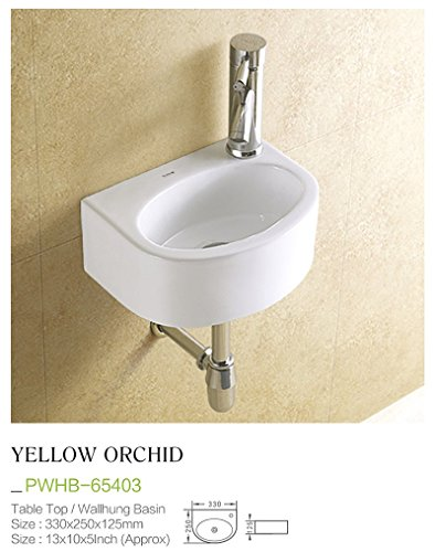 Plano Ceramic Wash Basin Tabletop / Wall Mount Yelloworchid
