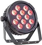 Ibiza 15-1476 DMX-Gesteuerter LED Par Strahler mit 12x 12W RGBWA-UV LEDs 6-in-1