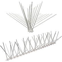 1 metro Dissuasori di picchi anti-piccione con base di policarbonato -5-striscia di Picchi antipiccione la soluzione di qualità per il controllo di uccelli