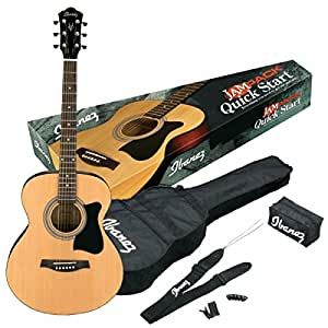 ibanez vc50njp nt acoustic guitar jam pack with bag strap tuner plectra in display box. Black Bedroom Furniture Sets. Home Design Ideas