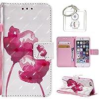 Preisvergleich für für iPhone 6S (4,7 Zoll) Hülle, Retro 3D Muster PU Leder Hülle Wallet Case Folio Schutzhülle in mit Standfunktion...