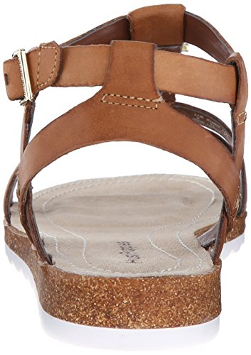 Hush Puppies Bretta Jade, Sandales Plateforme Femme Tan Leather