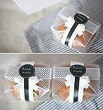 Yunko 100pcs/lot Sacs en plastique translucide pour biscuits, gâteaux, Chocolat, bonbons, Snack Cadeau Bon pour boulangerie fête avec stickers