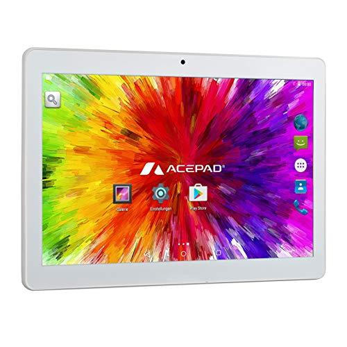 "ACEPAD A140 (10.1"") 3G Tablet PC, 2GB RAM, 64GB Speicher, 1920x1200, Dual-SIM, Octa Core, Android 7, WiFi/WLAN/Bluetooth, USB/SD (Silber)"