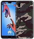 Favory Camouflage Design Silikon Case Premium TPU Hülle für Huawei P20 Tasche Schutzhülle Cover Shop