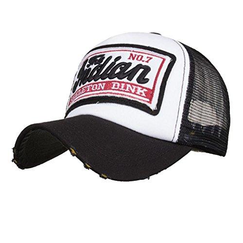 UFACE Stickerei Net Cap Baseballmütze Sonnenhut Sommer Cap Mesh Hüte für Männer Frauen Casual Hüte Hip Hop Baseball Caps - Leder-hut-frauen