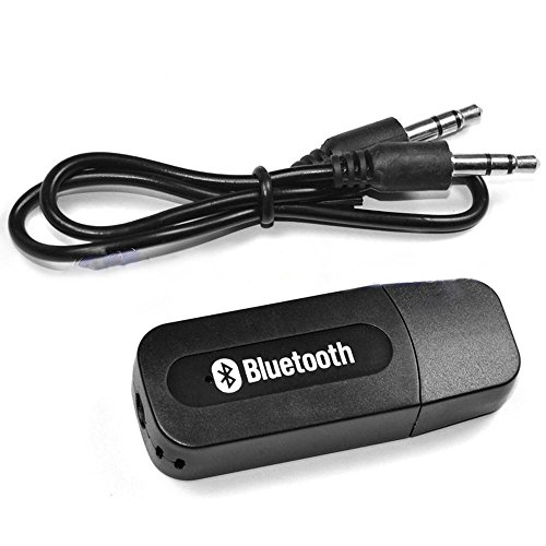 Jiyanshi BlackBerry PlayBook 2012 Compatible Wireless Bluetooth Receiver Adapter 3.5MM AUX Audio Stereo Music Home Handsfree Car Kit Bluetooth Stereo Adapter