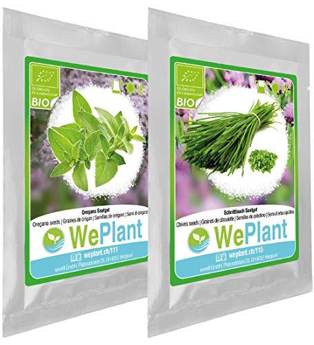 BIO Oregano & Schnittlauch Pflanzen-Samen Set - indoor/outdoor
