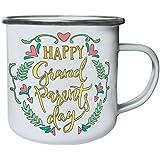 Nuevo Feliz Dia De Los Abuelos Retro, lata, taza del esmalte 10oz/280ml m183e
