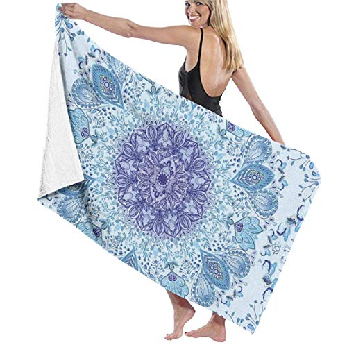 xcvgcxcvasda Badetuch, Bath Towels Oversize Extra Large Towels, Luxury Bath Towels, Psychedelic Peacock Mandala Washable Highly Absorbent Quick Dry for Sports, Fitness, Yoga