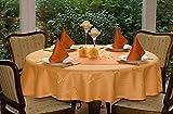 ODERTEX Extra hochwertige Tischdecken aus Deutscher Produktion Farbe & Größe wählbar 150 cm rund orange Eleganz