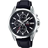 Edifice Herren Analog Quarz Uhr mit Leder Armband EFV-560L-1AVUEF