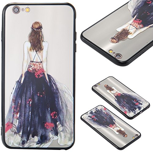 Nancen Hülle Apple iPhone 6 Plus / 6S Plus (5,5 Zoll) . Girl cover TPU Case Handyhülle Backcover Girl cover 12