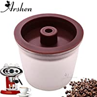 Arshen 3pcs/Set Coffee Capsules Plastic Refillable for illy Coffee Machine Compatible Espresso Maker 200 Times Coffee Capsules