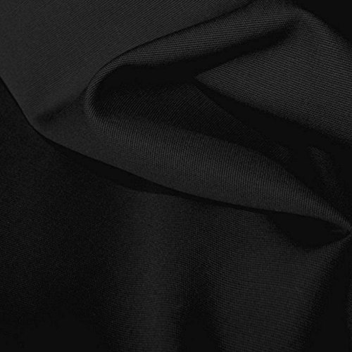 TOLKO Baumwollstoff Meterware   Canvas Segeltuch Stoff   Mittelschwer Stabil und Reißfest   als Polsterstoff/Möbelstoff zum Nähen und Beziehen (Schwarz) -