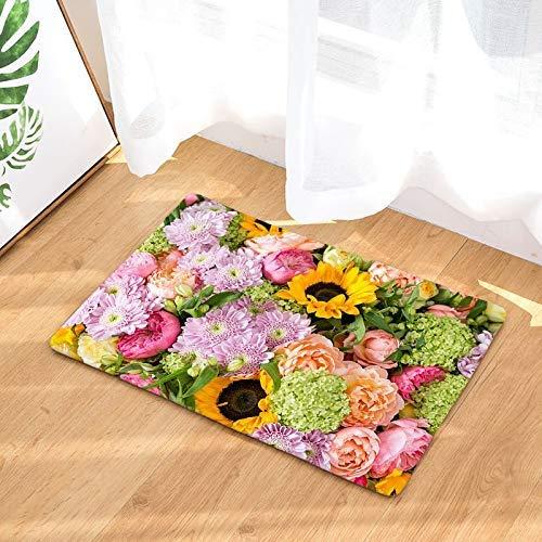 Kinhevao rutschfeste fußmatte farbig schöne Blumenmuster korallen Fleece Indoor Outdoor küche Boden Teppich haustür matbath mat