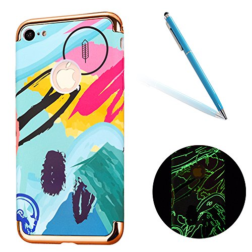 "iPhone 6sPlus Schutzhülle, CLTPY Luminous Feature Case Slim Fit iPhone 6Plus Hartplastik Abdeckung mit Gold Plating Removable Frame für 5.5"" Apple iPhone 6Plus/6sPlus (Nicht iPhone 6/6s) + 1 x Stift - Gemalte Graffiti 3"