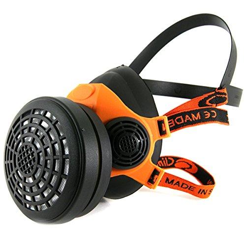 Atemschutz Profi Gasmaske Lackiermaske Atemschutzmaske Halbmaske mit 1 Filter A1, B1, E1, K1 E1 Filter
