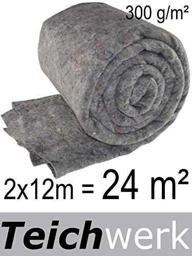 16m² Teichvlies 1000g Teich Schutzvlies für Teichfolie