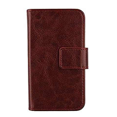 Gukas Etui Cuir Case Pour WIKO Highway Signs Housse Coque PU Leather Cover Flip Protection Portefeuille Wallet