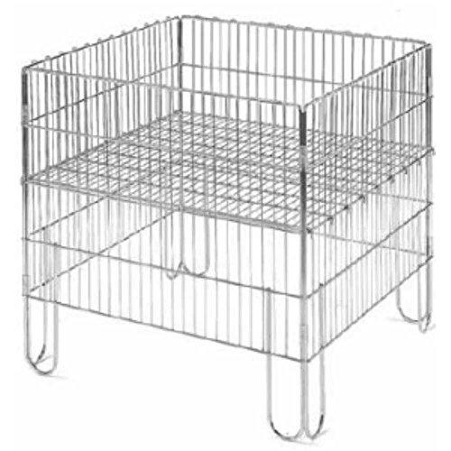 Cesta puesto vitrina plegable mm.600x 400x 800de redondo de hierro con estante Mobile caja ripieghevole para muebles Genny tiendas supermercati fiere