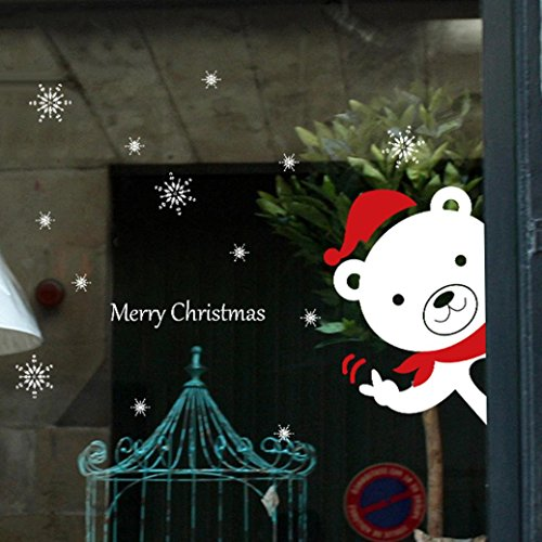 """Preisvergleich Produktbild DOLDOA Wandtattoo / Wandaufkleber Weihnachten Schneemann Abnehmbare Home Vinyl Fenster Wandaufkleber Aufkleber Dekor (9.84"""" * 13.77"""", A)"""