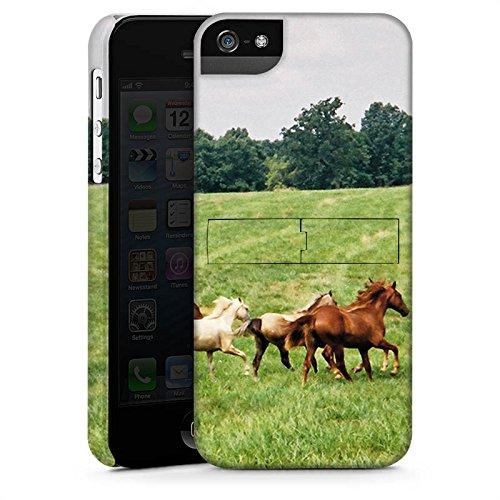 Apple iPhone X Silikon Hülle Case Schutzhülle Wilde Pferde Mustang Pferd Stute Horse Premium Case StandUp