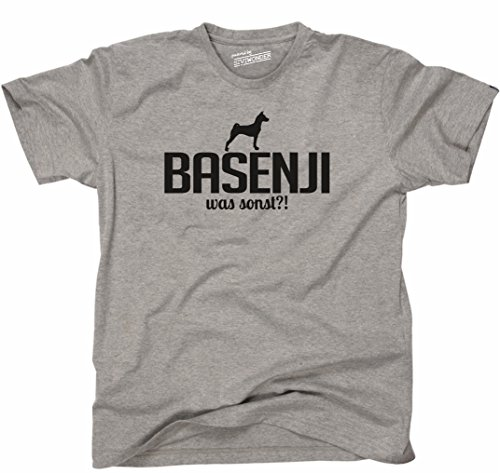 Siviwonder Unisex T-Shirt BASENJI WAS SONST?! Wilsigns Hunde Hund fun sports grey - schwarz