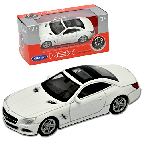 Welly Mercedes-Benz SL-Klasse R231 Cabrio Coupe Geschlossen Weiss Ab 2012 1/43 Modell Auto - 231 Coupe
