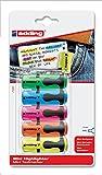 Edding Mini-Textmarker, verschiedene Farben, 5Stück