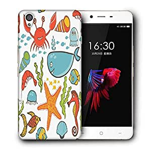 Snoogg Sea World Printed Protective Phone Back Case Cover For OnePlus X / 1+X
