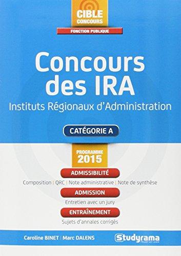 Concours des Ira - Programme 2015