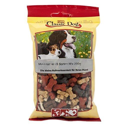 Bild: Classic Dog Snack Miniknochen 5 Sorten Mix 200 g