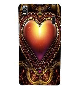 ColourCraft Love Heart Design Back Case Cover for LENOVO A7000 TURBO