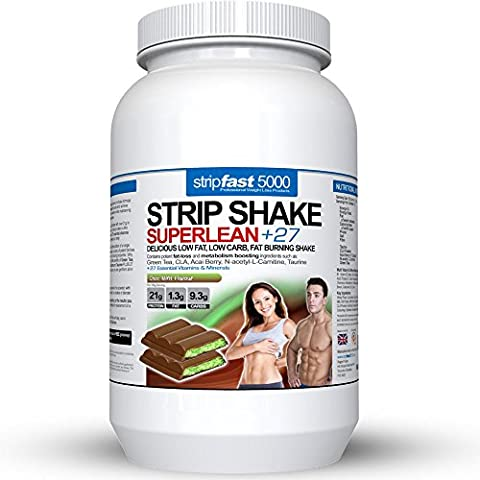 Diet Whey Protein Powder Shakes Weight Loss Support For Men & Women With DIET PLAN & RECIPE BOOK (Choc Mint, 907g)