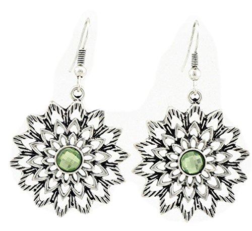 SaySure - Vintage Style Multilayer Hollow Flower Earrings