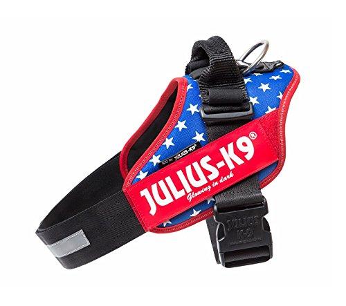 Nylon Flag (Lätzchen Julius-K9 IDC Powergeschirre USA Flag Tg. 2 - fester Träger mit dem amerikanischen Flagge, verstellbares Nylon für Hunde)