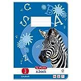 Herlitz 10767283 Heft A4 Lineatur 03, 32 Blatt: Motiv: Zebra, FSC Mix, 5 Stück