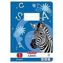 Herlitz 10767283 A4 32 Sheets Line Style 03, Motif Zebra, FSC Mixed Pack of 5)