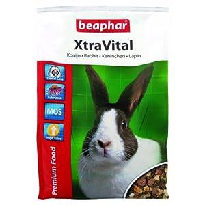 XtraVital Kaninchen Futter   Ausgewogenes Kaninchenfutter   Mit zahnpflegenden Eigenschaften   Geringer Fettgehalt   Mit Echinacea & Alfalfa   2,5 kg