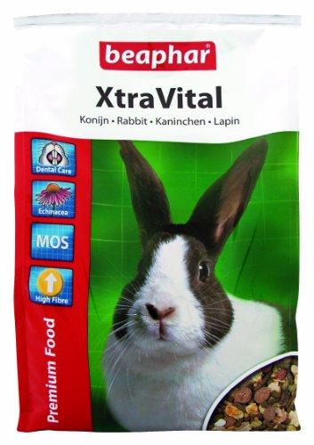 XtraVital Kaninchen Futter | Ausgewogenes Kaninchenfutter | Mit zahnpflegenden Eigenschaften | Geringer Fettgehalt | Mit Echinacea & Alfalfa | 2,5 kg